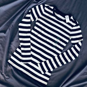 NWT GAP Bowery Striped Crew Neck Long Sleeve Tee